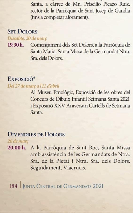 Setmana Santa Oliva 2021